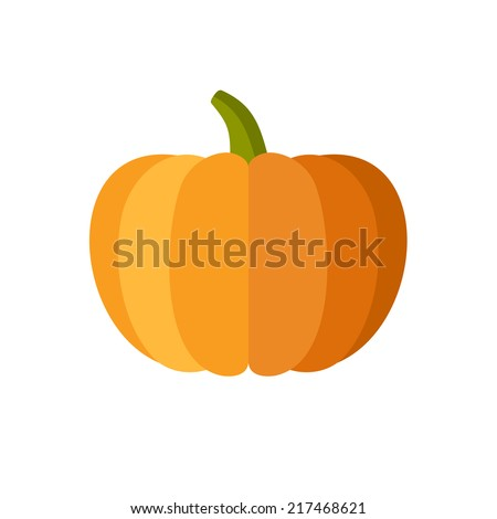 pumpkin isolated on white flat