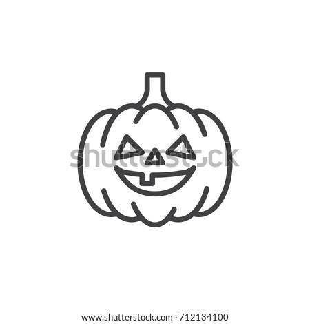 pumpkin line icon  outline