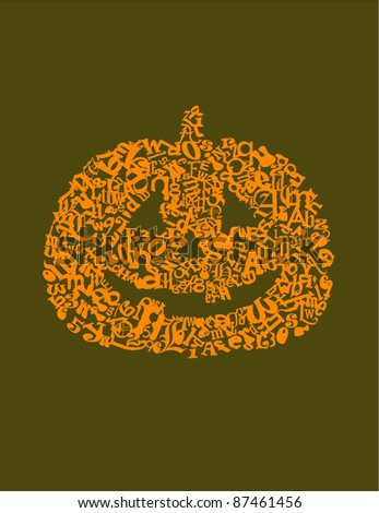 Pumpkin made of letters