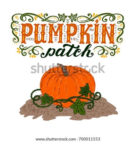 pumpkin patch halloween poster