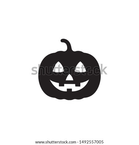 pumpkin silhouette icon on a