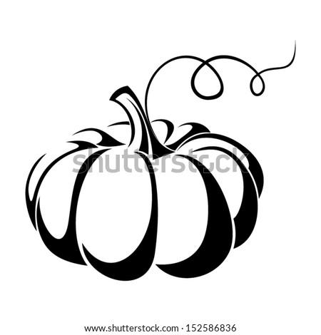 pumpkin vector black