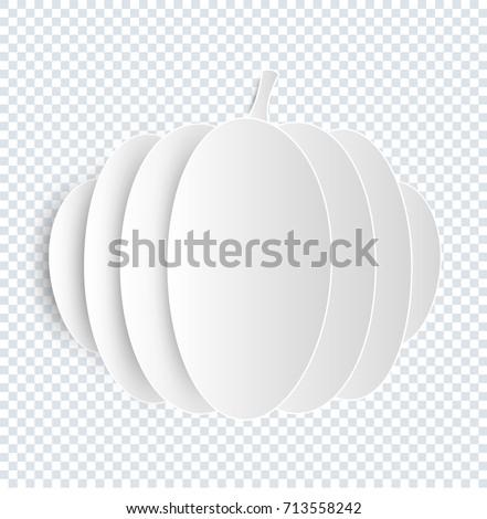 pumpkin vector on transparent