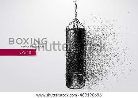 punching bag from particles