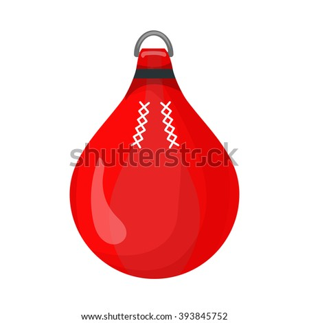 punching bag red icon isolated