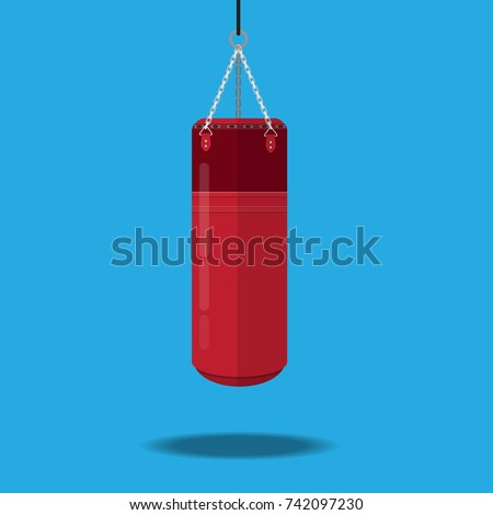 punching bag vector icon. Stock photo ©