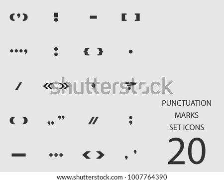 Punctuation marks set of flat icons. Simple vector illustration Сток-фото ©