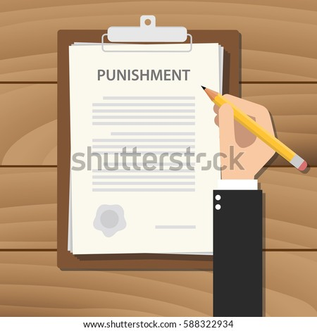 punishment concept illustration