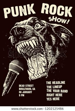 Punk Rock Gig Poster Flyer Template