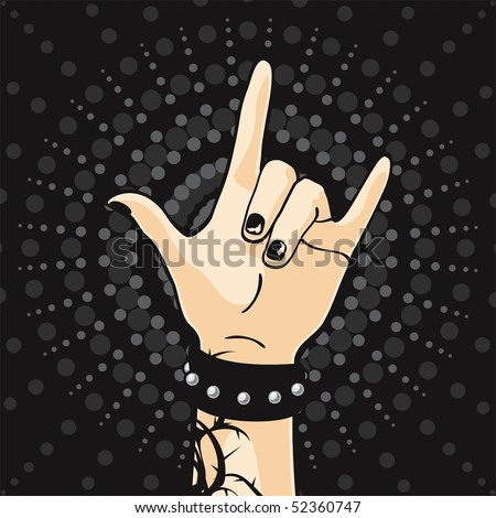 Punk Rock Kids - stock vector