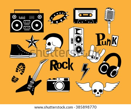 punk rock music vector isolated