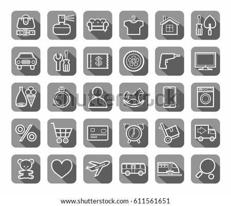 Royalty Free Online Store Product Categories Icons 339776288