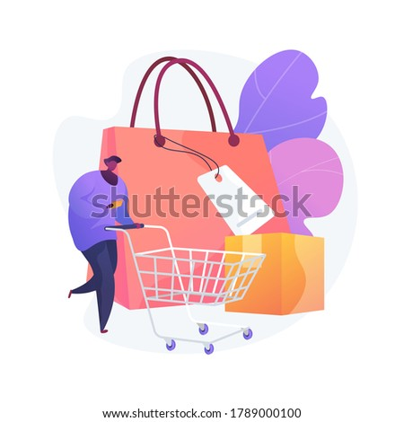 Purchasing habits abstract concept vector illustration. Generate consumer habit, marketing research, millennial purchasing preference, shopping, habitual buying behavior abstract metaphor. Сток-фото ©