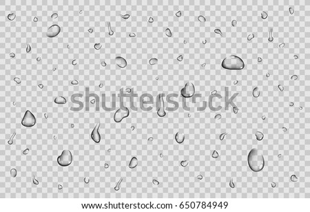 pure clear water drops