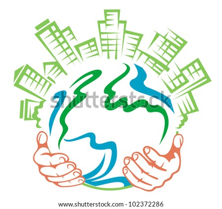 Pure earth in people hands for ecology or environment concept design. Jpeg version also available in gallery