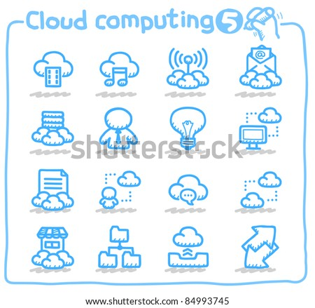 Pure series | cloud computing,communication,internet,business,network icon set