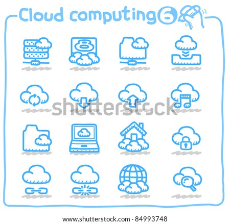 Pure series | cloud computing,communication,internet,network icon set