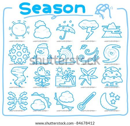 Pure series | hand draw season,weather icons