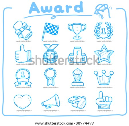 Pure series | Hand drawn award icon set