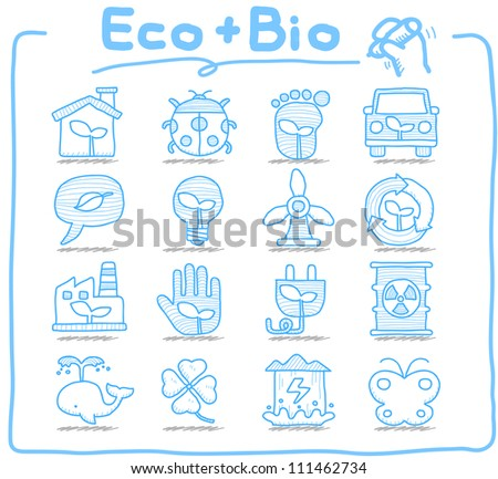 Pure Series | Hand drawn ECO , BIO icon set