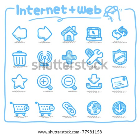 Pure series | Hand drawn internet and web icons
