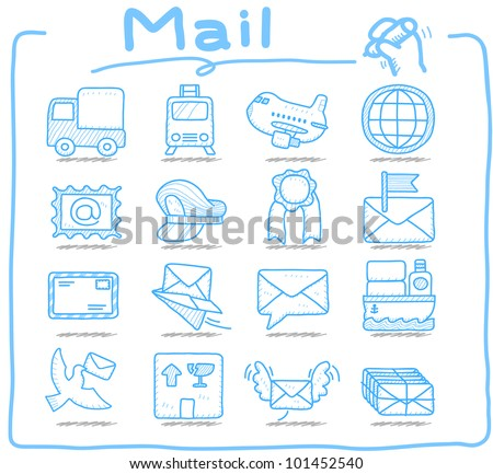 Pure Series | Hand drawn Mail,Delivery icon set