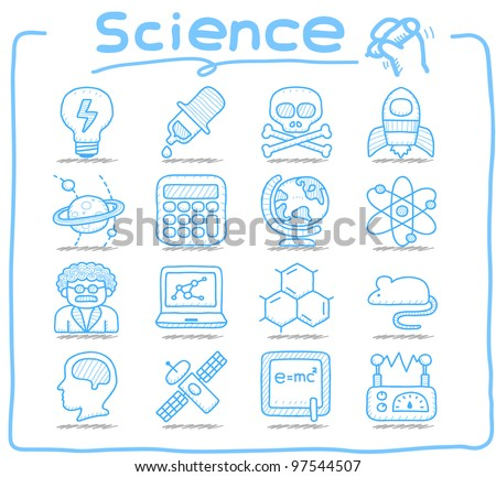 Pure Series | Hand drawn Science icon set