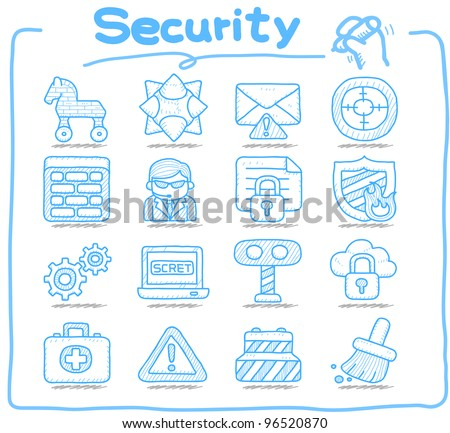 Pure series | Hand drawn Security,business,internet icon set