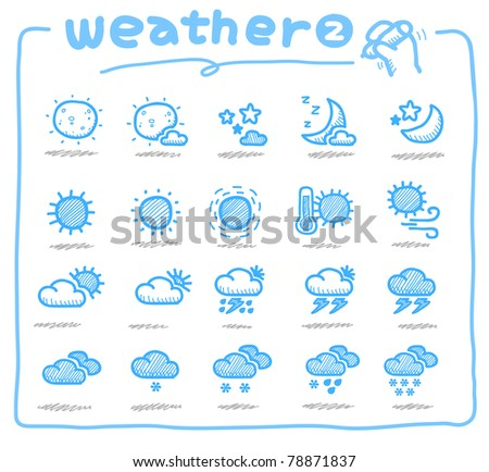 Pure series | Hand drawn weather icon, weather forecast