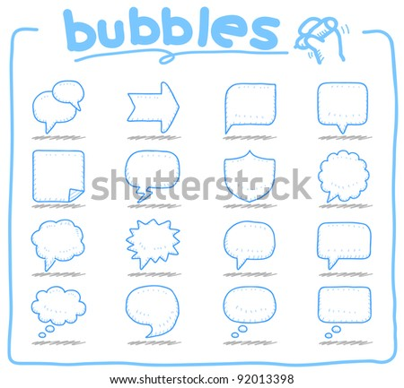 Pure series | Speech And Thought Bubbles - stock vector