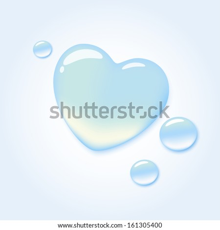 pure water drop in shape of