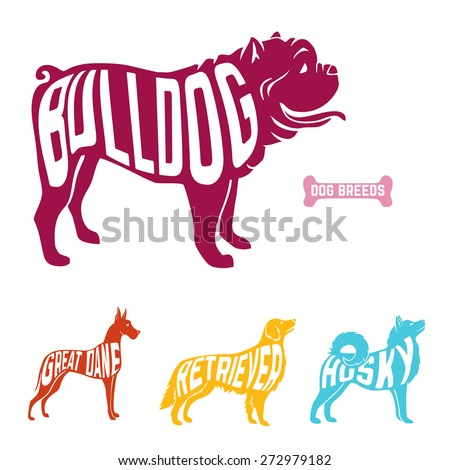 purebred dogs with name of