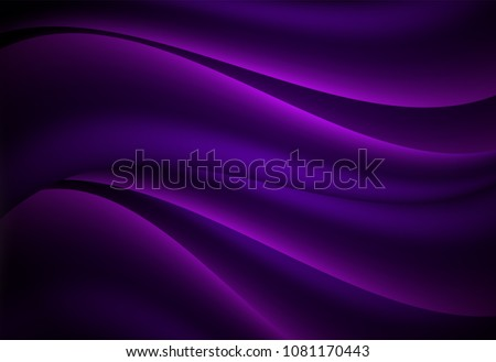 Purple abstract curve and wavy background