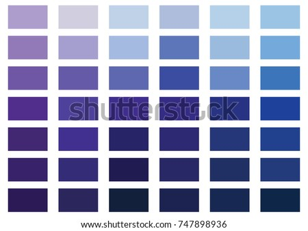 Purple and blue color palette vector illustration