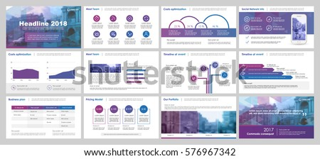 Purple and blue elements for infographics on a white background. Presentation templates. Use in presentation, flyer and leaflet, corporate report, marketing, advertising, annual report, banner.