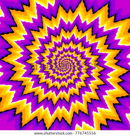 purple and yellow spirals