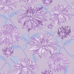 purple asters. seamless abstract pattern.print, wallpaper floral background