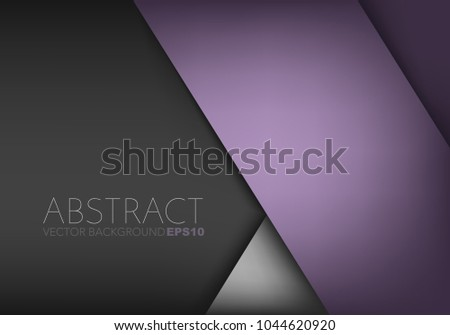 Purple background vector overlap layer on black and silver background and space for design