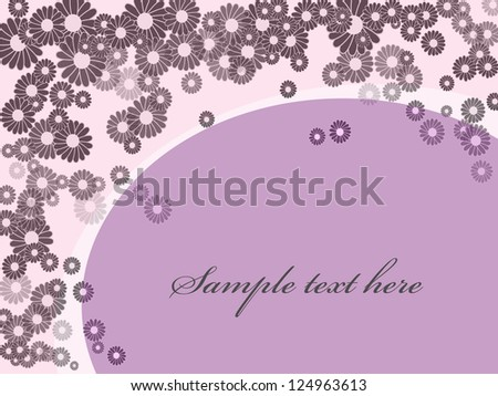 purple background with flowers