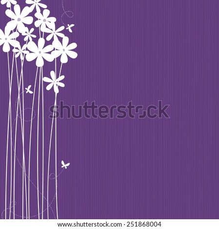 purple background with white
