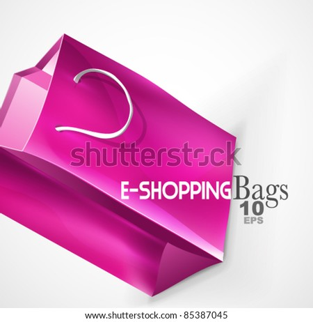 Purple bag background - stock vector