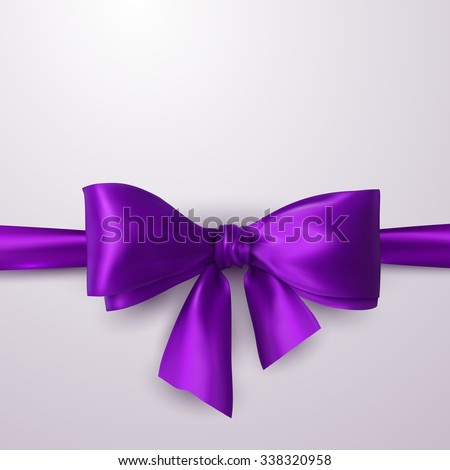 purple bow and ribbon vector
