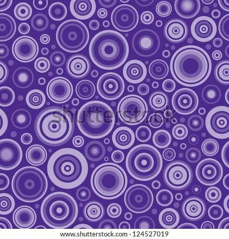 Purple circles seamless pattern.