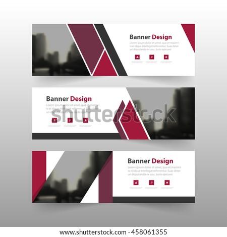 Purple corporate business banner template, horizontal advertising business banner layout template flat design set #458061355