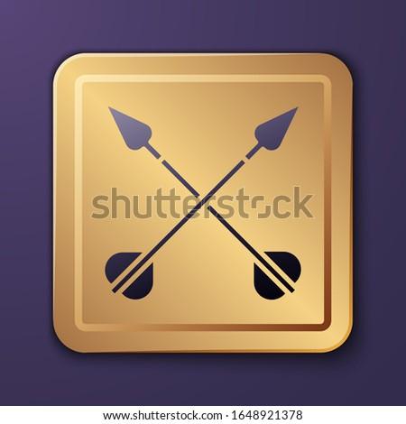 purple crossed arrows icon