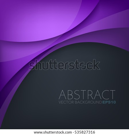 purple curve with dark space