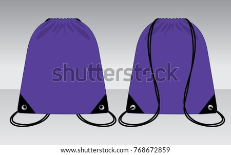 purple drawstring bag for