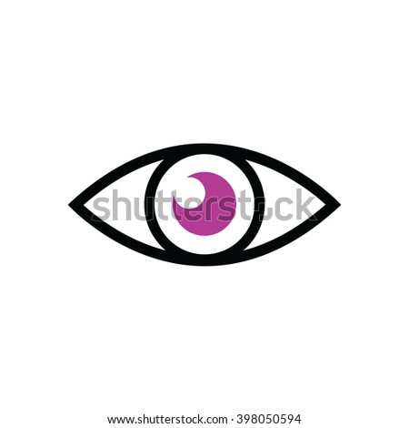 purple eye vector illustration