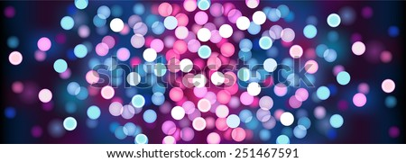 purple festive lights vector