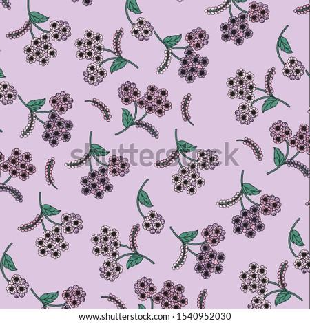 purple flora garden background
